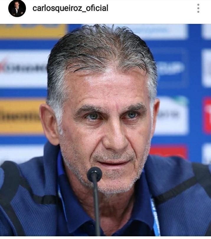 پست اینستاگرامی کی روش درباره دیدار تیم ملی ایران مقابل یمن