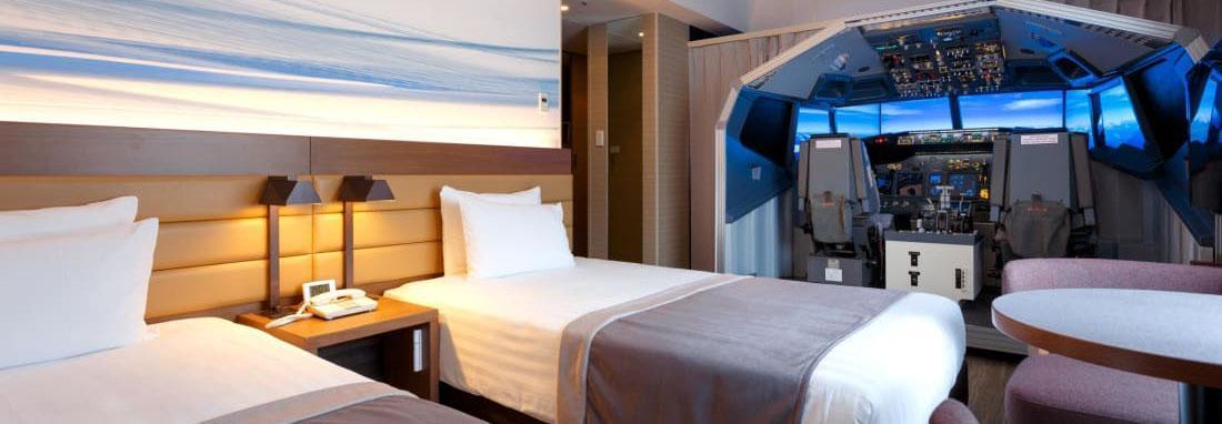 تجربه خلبانی در یک هتل ، ابتکار هتل فرودگاه توکیو برای پرواز مهمانان در اتاق