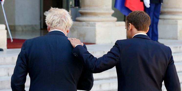 ماکرون در دیدار با جانسون: از موضع خود درباره مرزهای ایرلند کوتاه نمی آییم