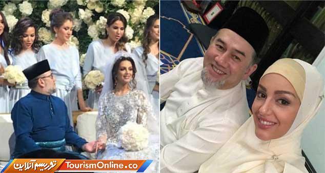 دردسر ازدواج پادشاه مالزی با ملکه زیبایی روس، تصاویر