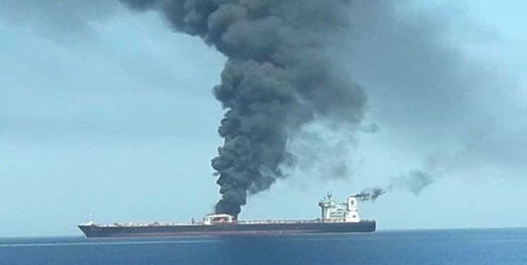 انفجار بدنه نفتکش ایرانی در دریای سرخ