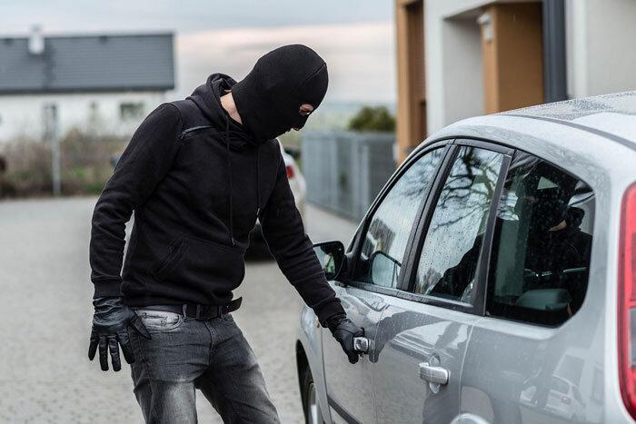 دزد سیاه به دام افتاد