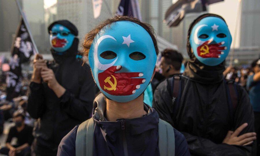 عکس روز: حمایت از مسلمان اویغور در هنگ کنگ