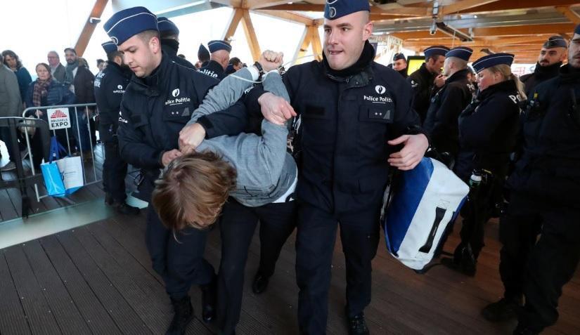 اعتراض به تغییرات آب و هوایی در بروکسل، بازداشت 185 نفر (