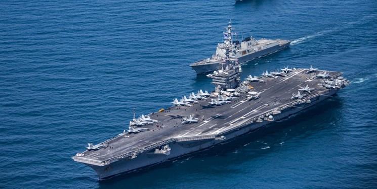 استقرار ناوهای هواپیمابر آمریکا در آب های اطراف چین