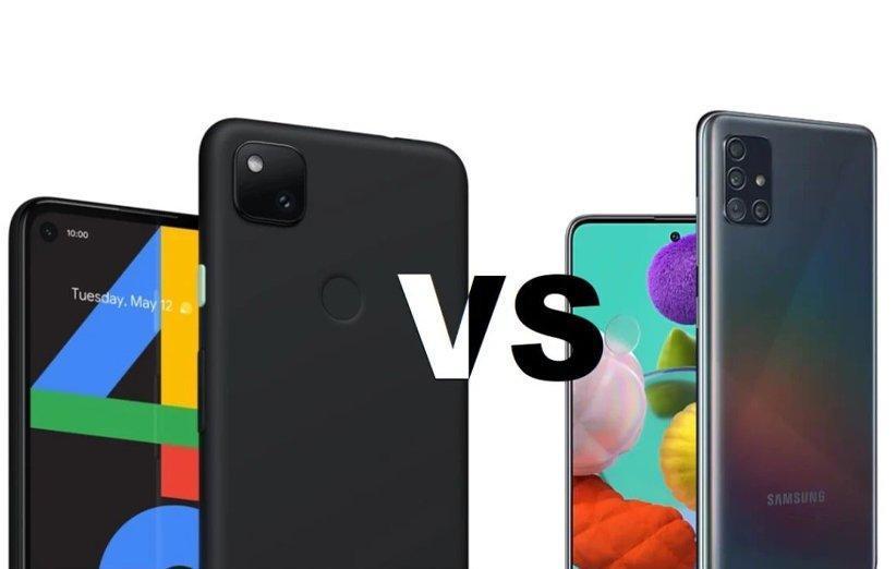 مقایسه گوشی گوگل پیکسل 4a 5G با گلکسی A51 5G