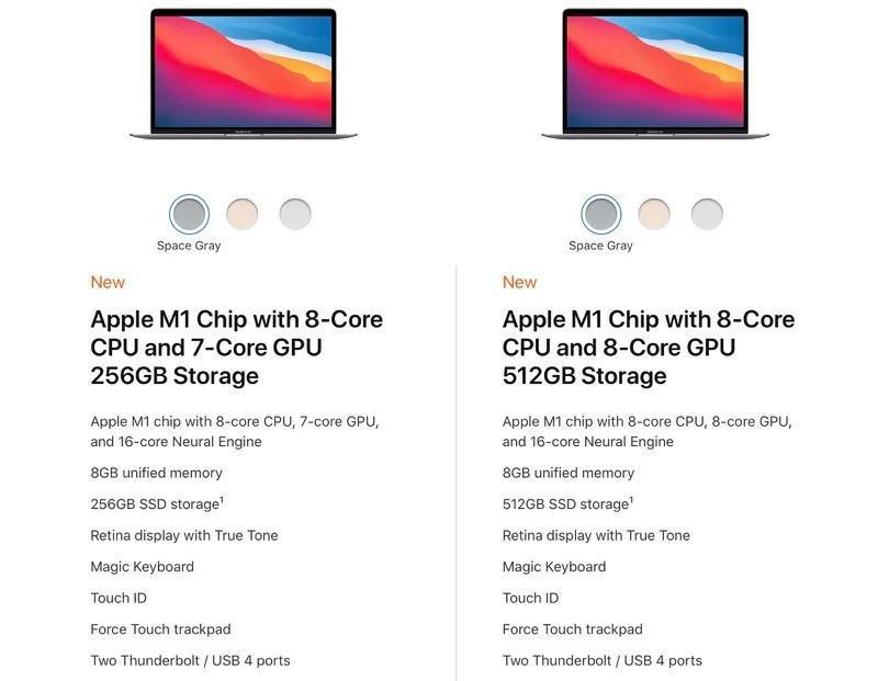 ارتقایی در کار نیست؛ مک بوک Air و Pro از یک پردازنده استفاده می کنند