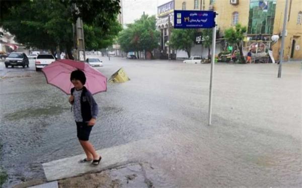 شروع بارش باران و تگرگ از بعدازظهر سه شنبه