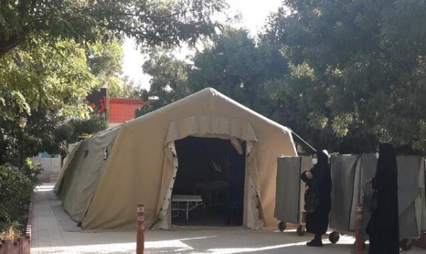 بیمارستان صحرایی ارتش برای درمان بیماران کرونایی در کرمانشاه افتتاح شد